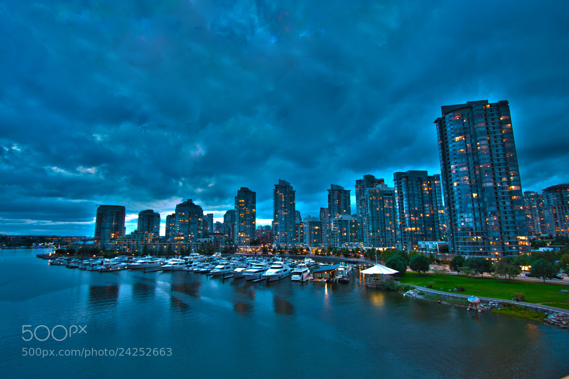 Photograph Vancouver skyline in evening by Ryan Maish on 500px