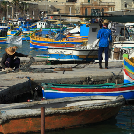 Colorful Boats of Marsaxlokk, Canon EOS 50D, Tamron AF 18-270mm f/3.5-6.3 Di II VC PZD