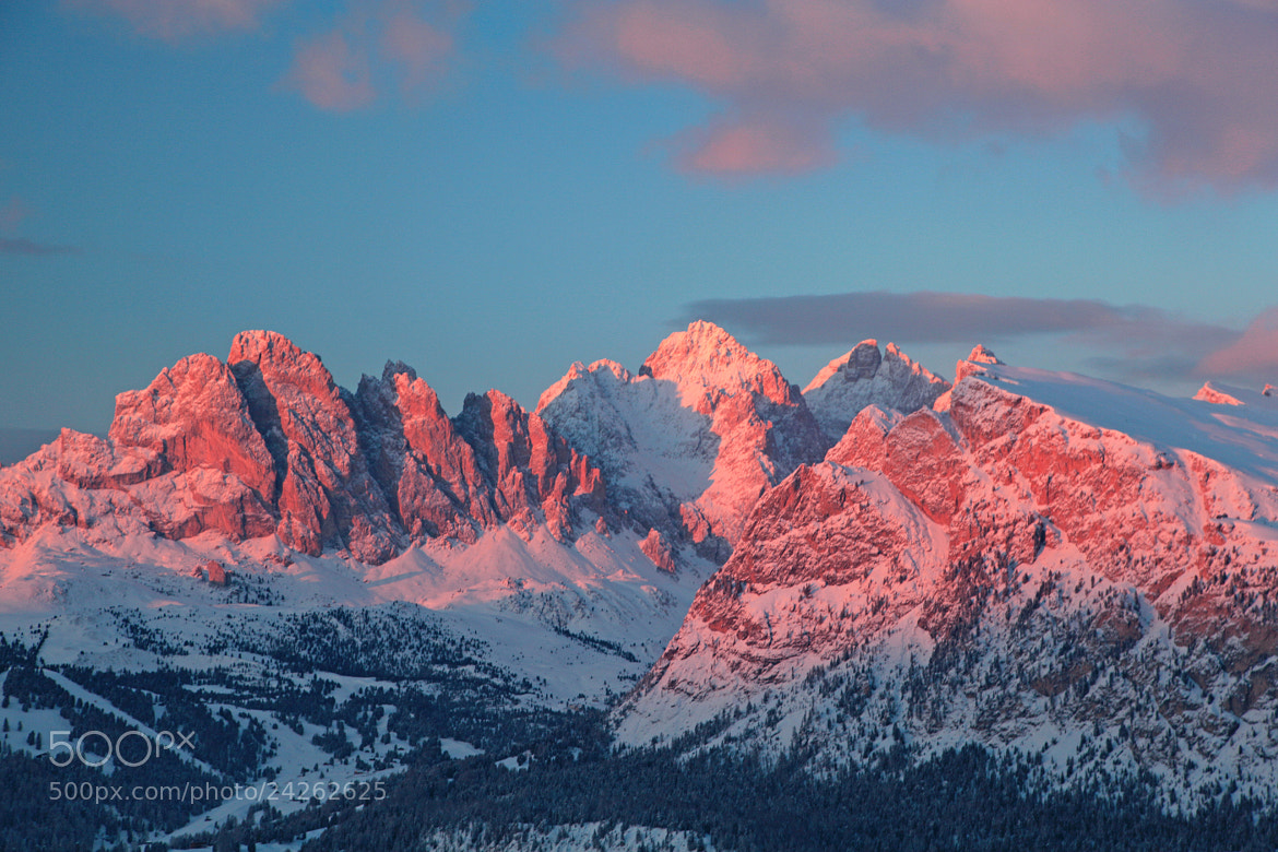 Photograph last light on tops by Too Awful :) on 500px