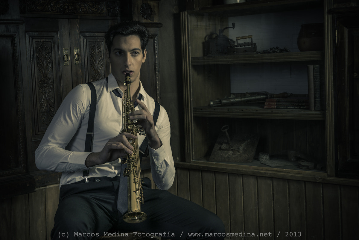 Photograph Saxophonist by Marcos Medina on 500px