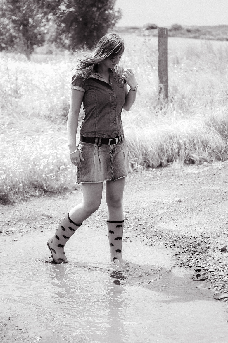 Photograph rubber boots girl by Manuel Stolle on 500px