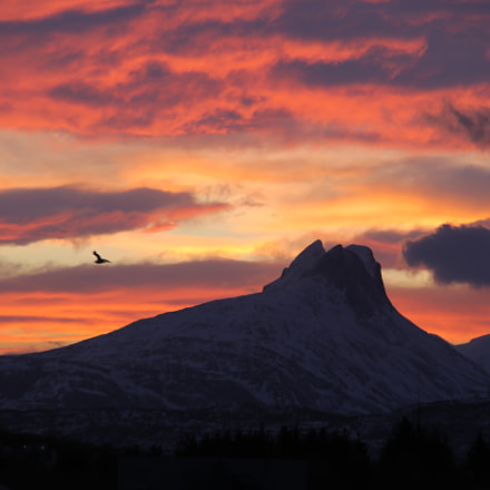 Beautiful sunrise in northernnorway, Canon EOS 6D, Sigma 70-200mm f/2.8 APO EX HSM