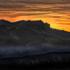 Dolomites warm sunset