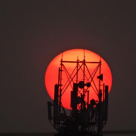 Amaizing sunset, Sony DSC-HX300, Minolta AF 80-200mm F2.8 HS-APO G