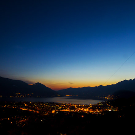 Sunset on Locarno
