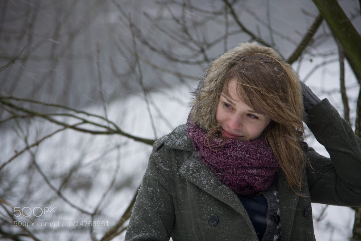 Photograph Winter portrait of Freya 2 by Brecht De Ruyte on 500px
