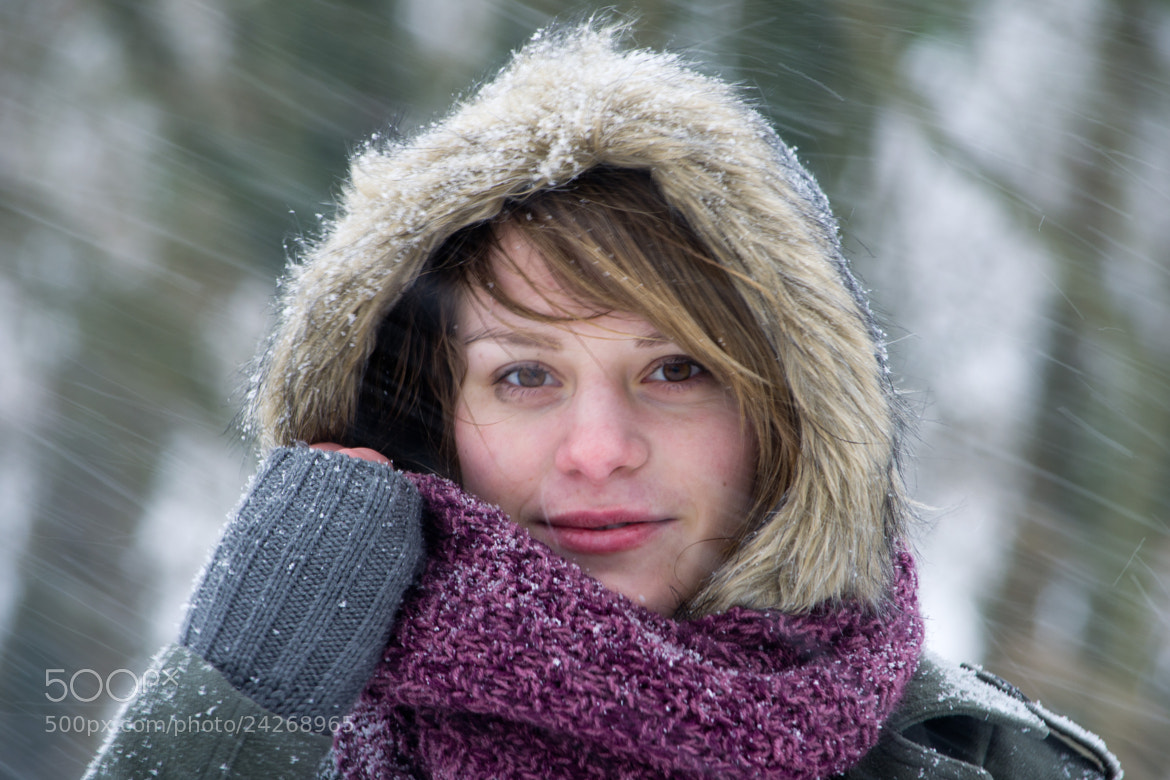 Photograph Winter portrait of Freya close-up by Brecht De Ruyte on 500px