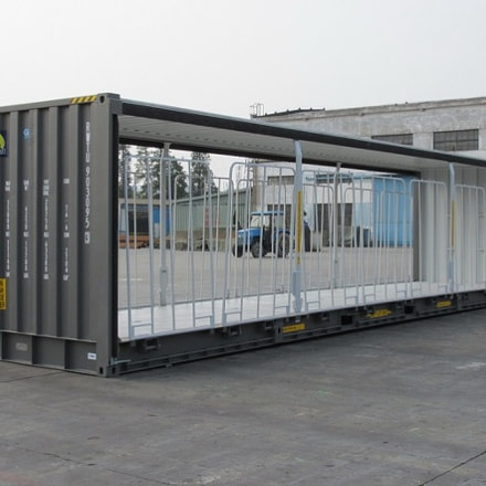Rail Curtainside Container manufactured by Royal Wolf Australia. For more detail visit :...
