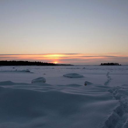 Sunset on a winterday, Nikon COOLPIX P600