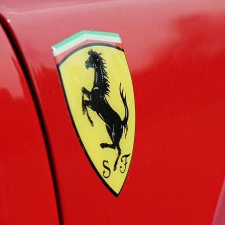 Ferrari shield, Canon EOS REBEL T3I, Canon EF-S 55-250mm f/4-5.6 IS II