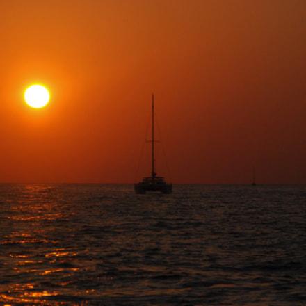 Ship sunset, Nikon D80, AF-S DX Zoom-Nikkor 18-135mm f/3.5-5.6G IF-ED