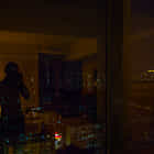 Reflections in the hotel room