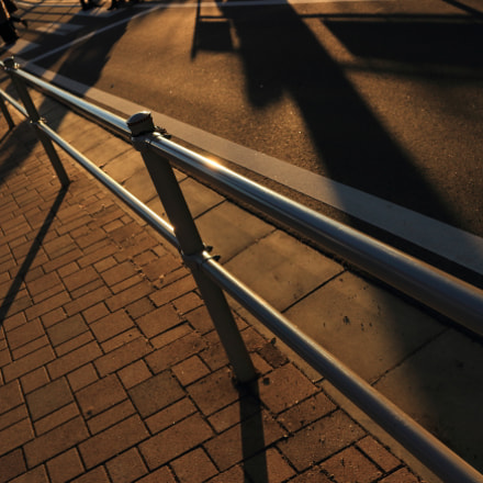 Shadows on orange road, Canon EOS KISS X7, Canon EF-S 24mm f/2.8 STM