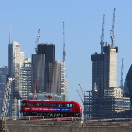 London city skyline view, Canon POWERSHOT SX410 IS