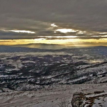 Winter Sunset on Mountain, Fujifilm FinePix JX550