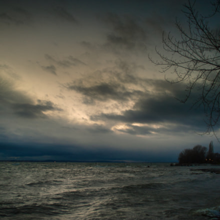 Stormy Lake of Constance, Nikon D700, Sigma 28-105mm F3.8-5.6 UC-III Aspherical IF
