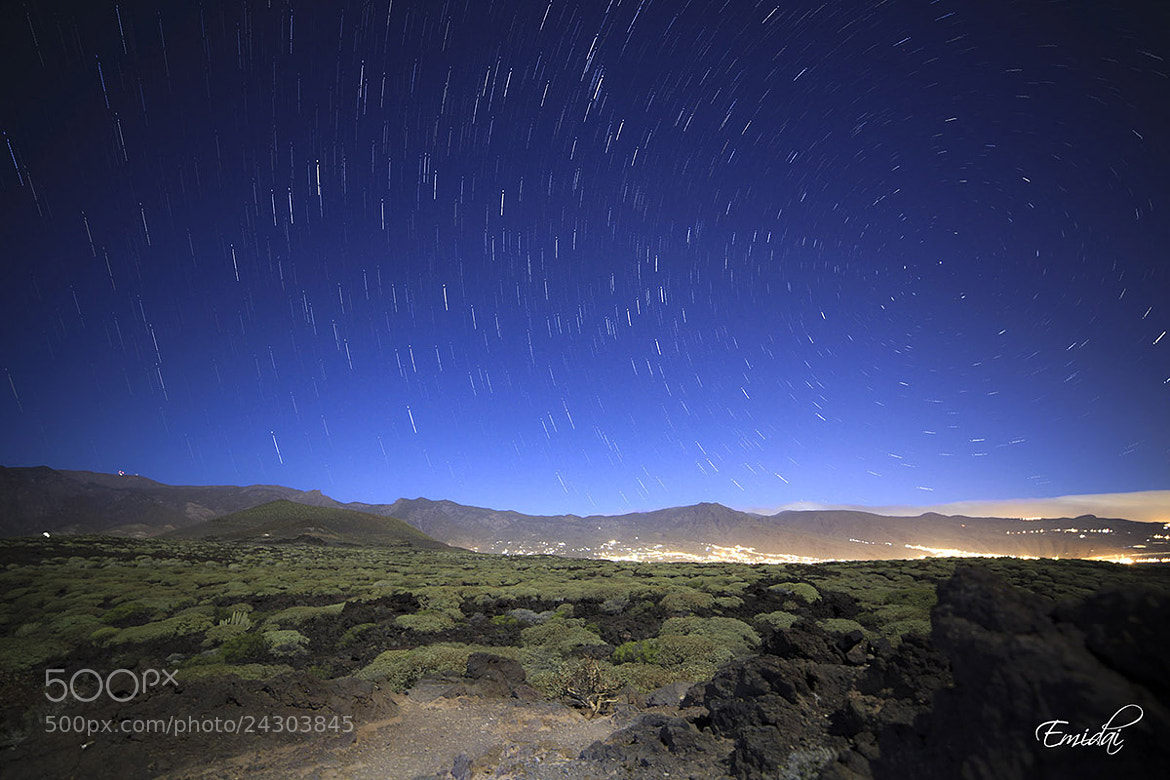 Photograph Star Trails  Malpais de Güimar by Emidai  on 500px