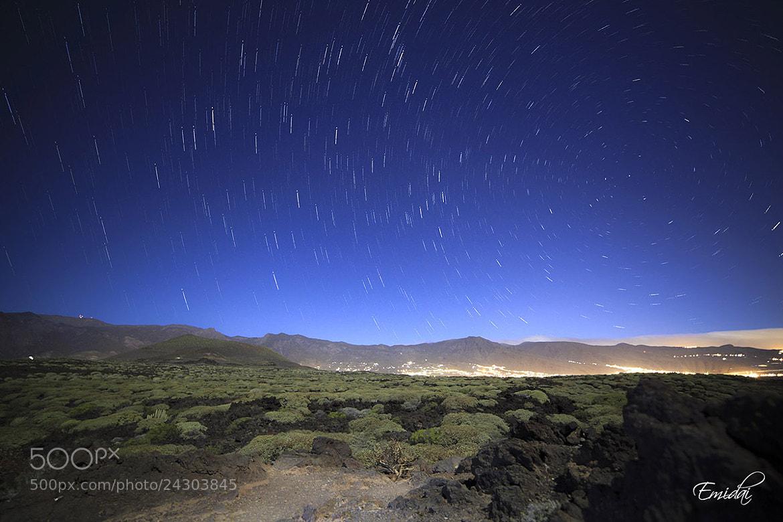 Photograph Star Trails  Malpais de Güimar by Emidai  on 500px