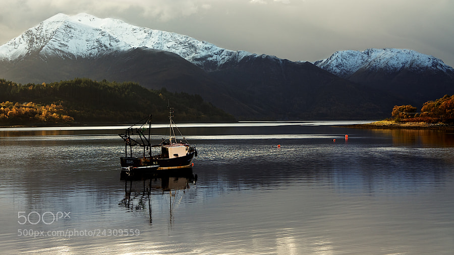 Photograph Fishing boat in Loch Leven by Paul & Mhairi Carroll on 500px