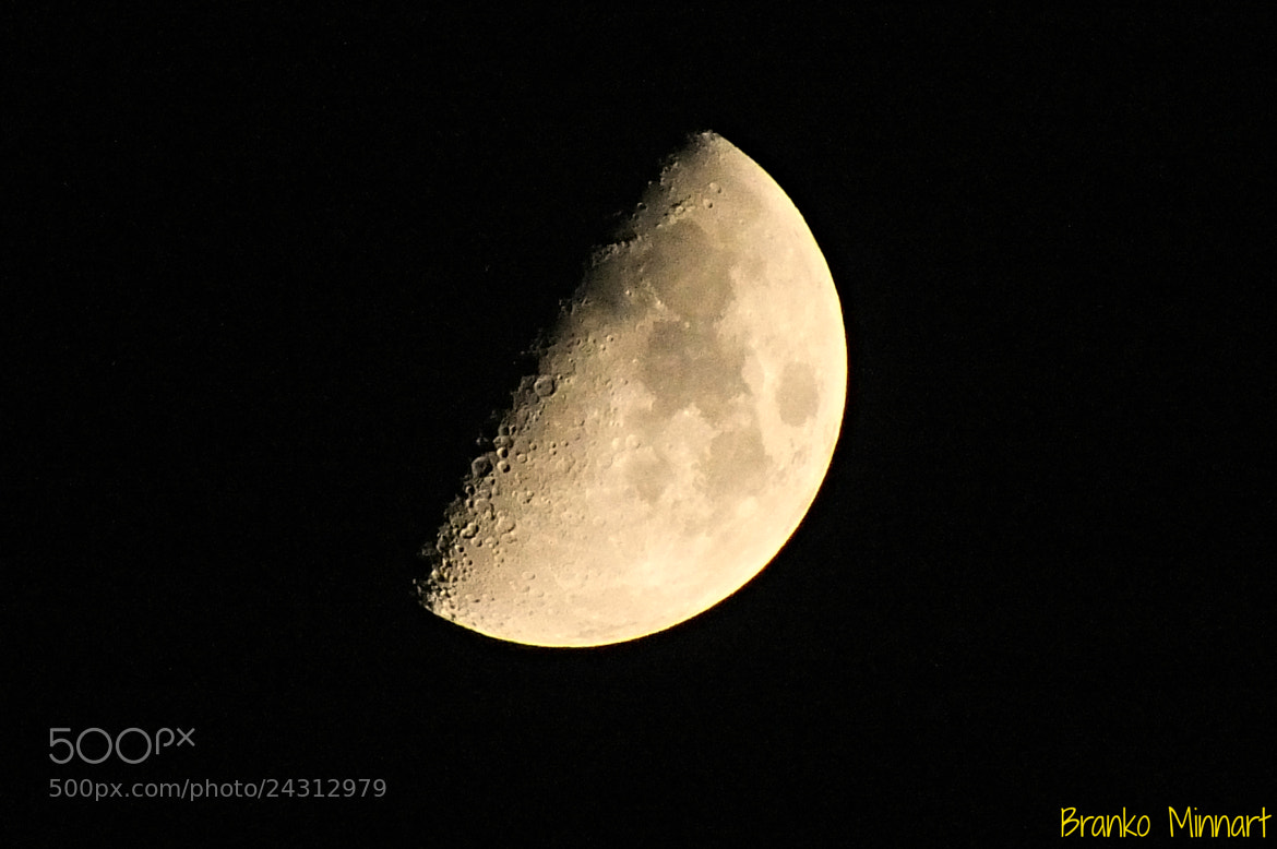 Photograph Half moon by Branko Minnart on 500px