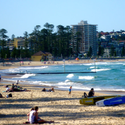 Manly Beach in Sydney, Panasonic DMC-FS10