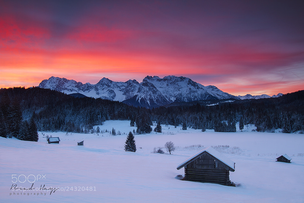 Photograph Bavarian Cold Red Dawn by Brad Hays on 500px