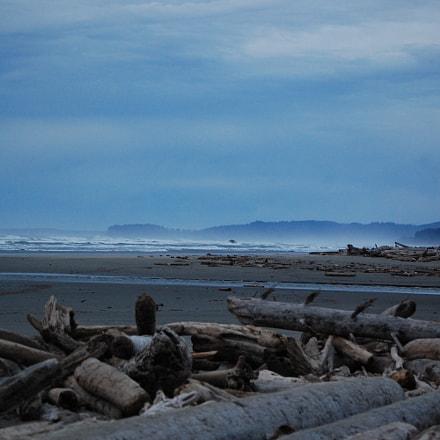 Washington Coast at Dusk, Nikon D40, AF-S DX Zoom-Nikkor 55-200mm f/4-5.6G ED