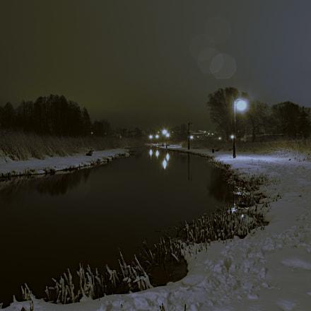 Zima nad rzeką, Nikon D3200, AF-S DX Nikkor 18-55mm f/3.5-5.6G VR II