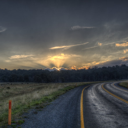 Sunset on the road, Canon EOS 1000D