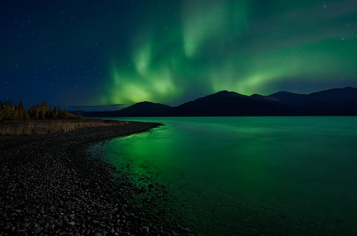 Photograph Autumn Aurora over Ruby Range by Keith Williams on 500px