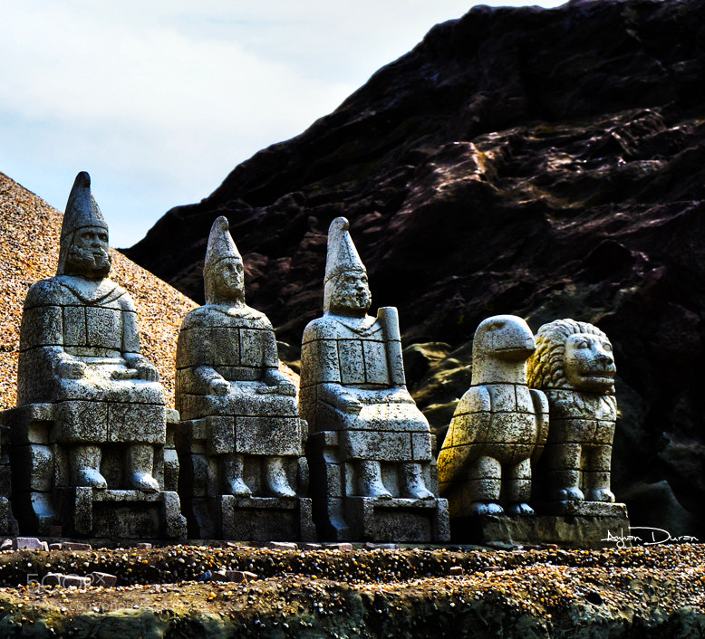 Photograph Miniature, Mount Nemrut Commagene Kingdom and the statues by Ayhan Duran on 500px