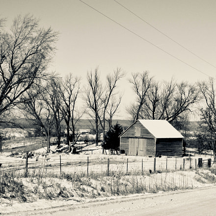 Winter in Iowa Rural, Canon POWERSHOT SD850 IS
