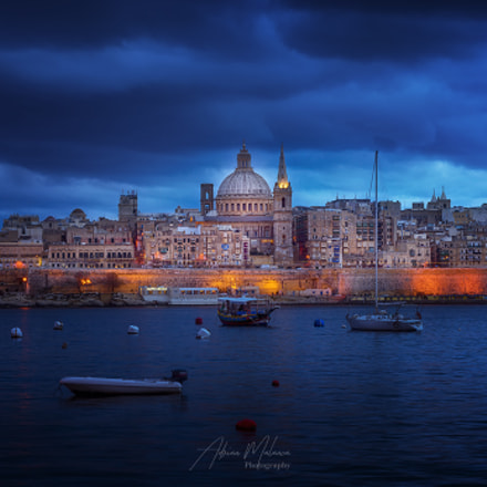 Blue hour in La Valetta!