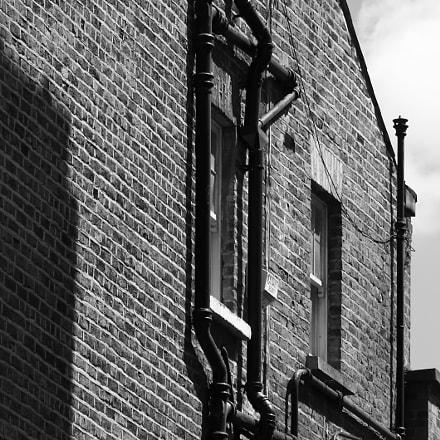 Pipes climb a brick, Canon EOS 100D, Canon EF 55-200mm f/4.5-5.6 II USM