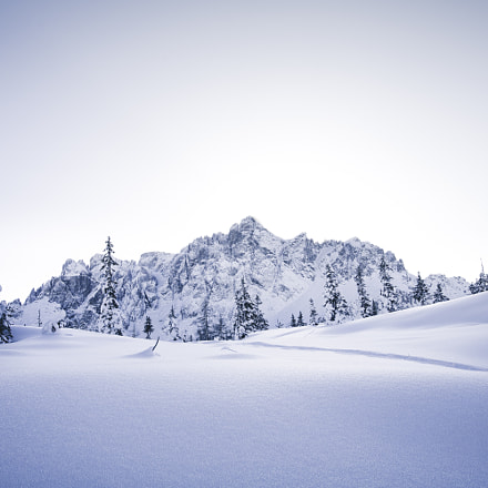 Snowy Dolomiti Landscape