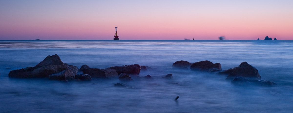 Photograph Dawn of beach by Young Wook Woo on 500px