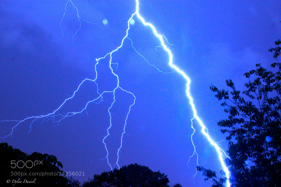 Photograph Lightning Strike by Dylan Daniels on 500px