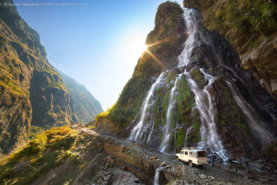Roadside waterfall by Anton Jankovoy on 500px.com