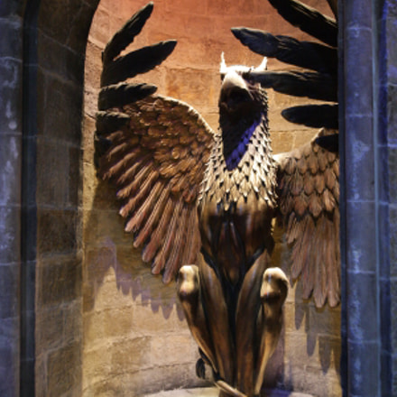 Entrance to dumbledores  office, Canon EOS-1DS MARK II, 28.0 - 135.0 mm