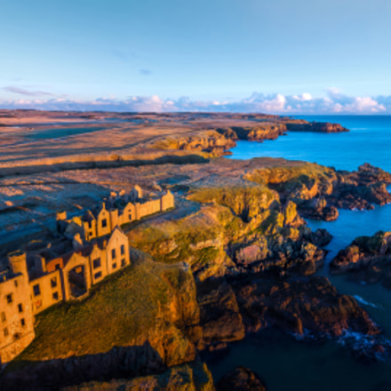 Slains Castle at Sunrise