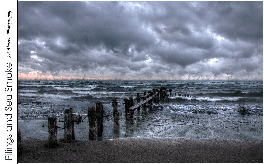 Photograph Pilings and Sea Smoke by JW Vraets on 500px