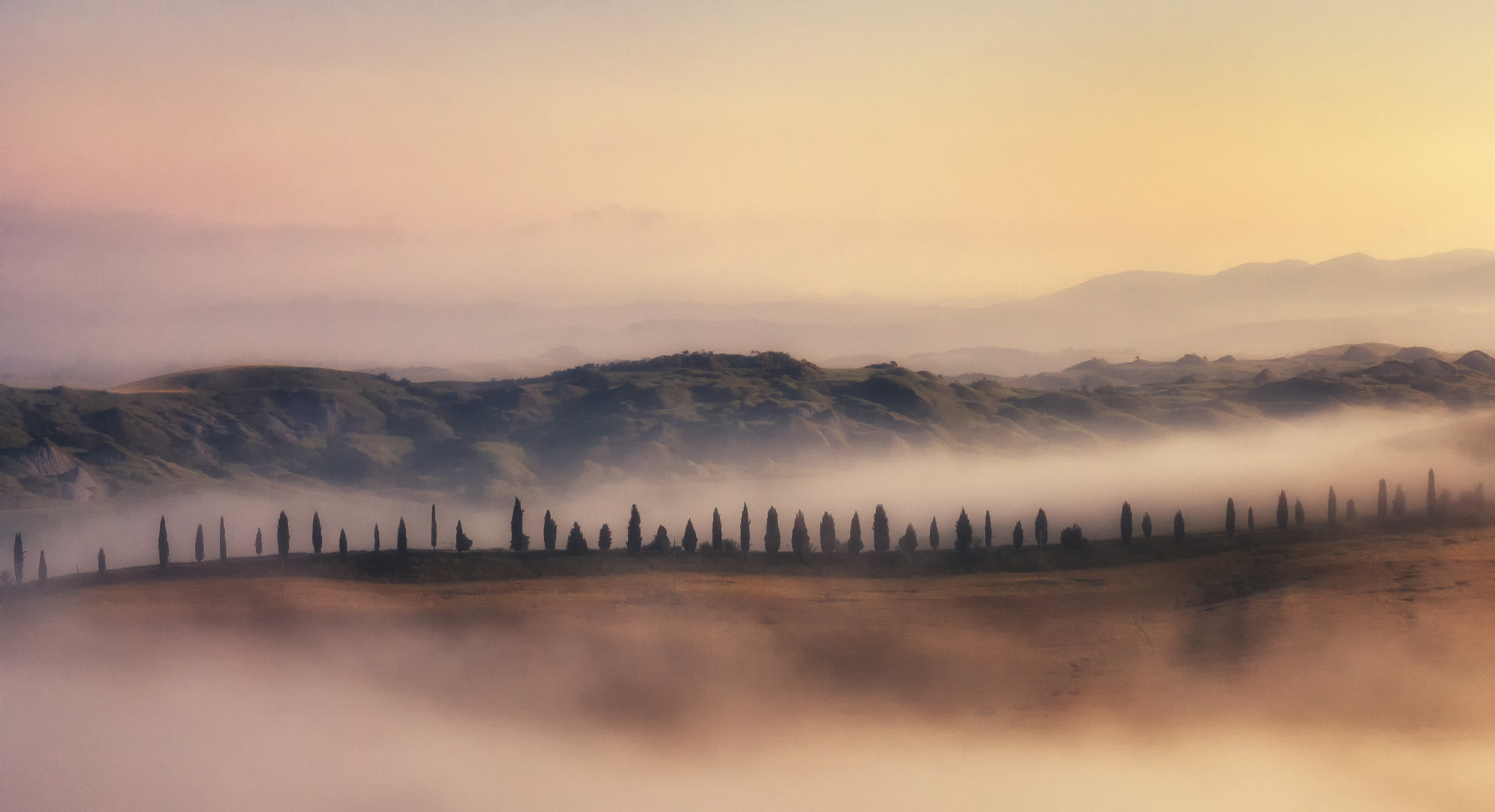 Photograph The foggy line by Antonio  longobardi on 500px