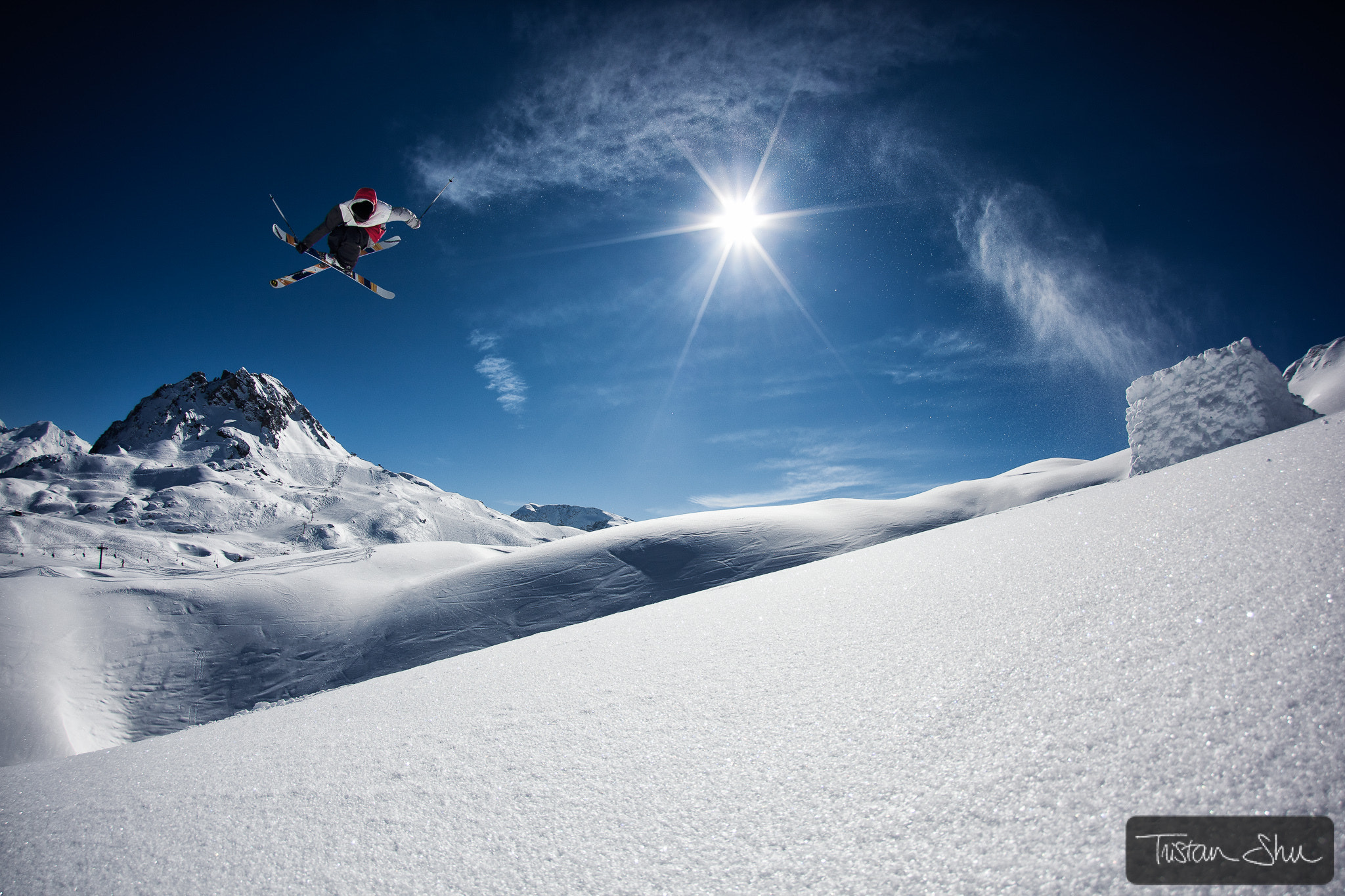 Photograph Backcountry kicker with Flo Bastien by Tristan Shu on 500px