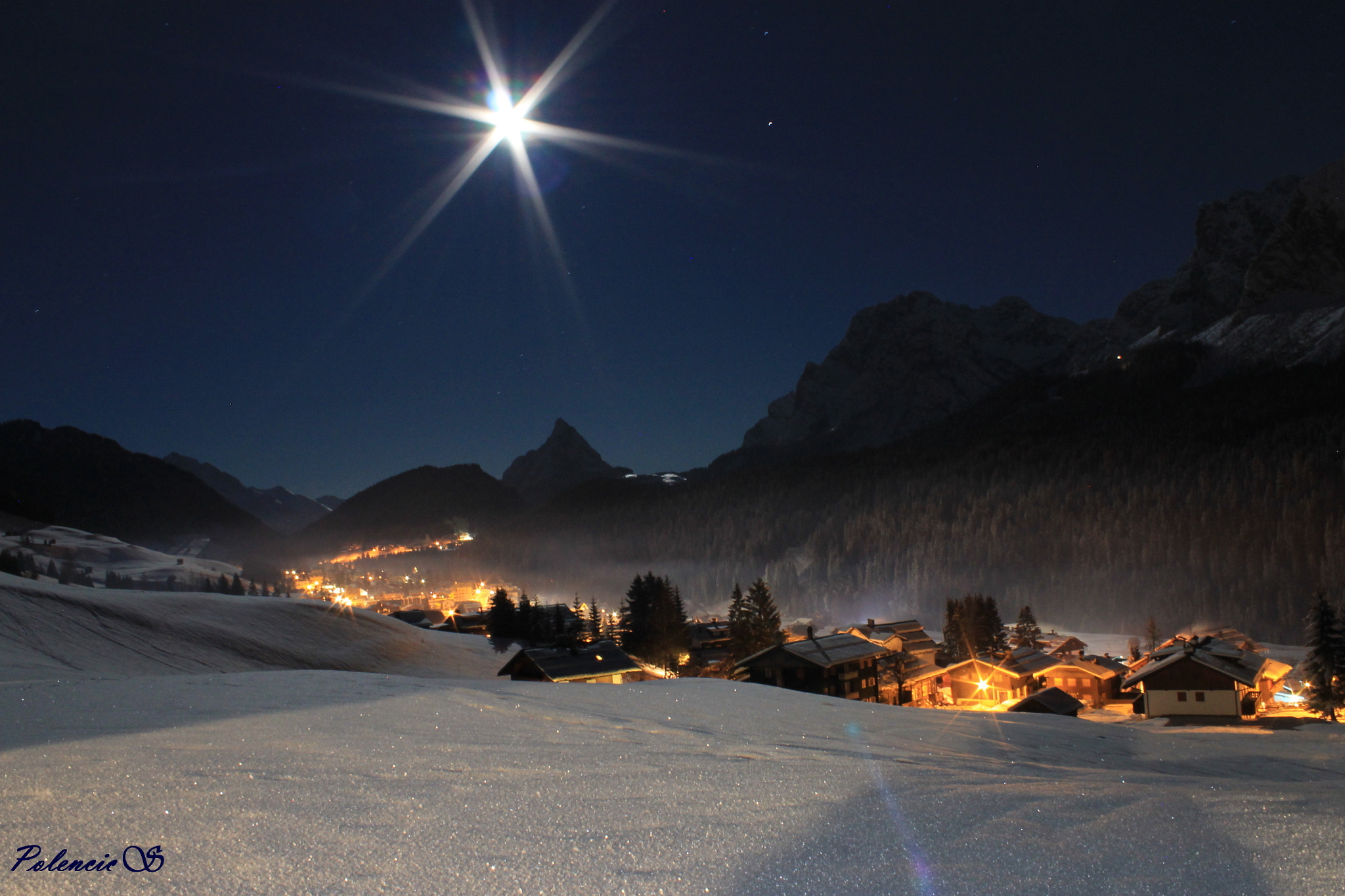 Photograph The peace of the village in the moonlight by Silvia Polencic on 500px