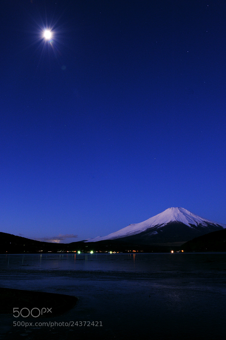Photograph Moon & FUJI by Morikei  on 500px