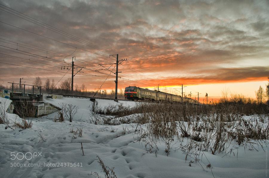 Morning train by Tolik Maltsev on 500px.com
