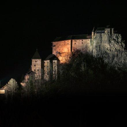 Orava Castle at Night