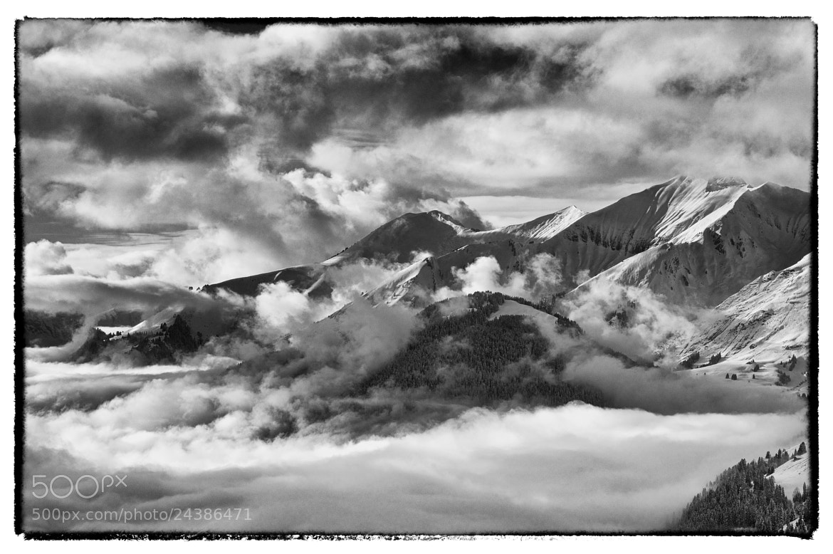 Photograph Mountain, Black and White by Emily Wergifosse on 500px