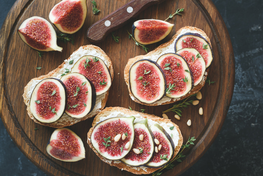 Fig and goat cheese toasts by Vladislav Nosick on 500px.com