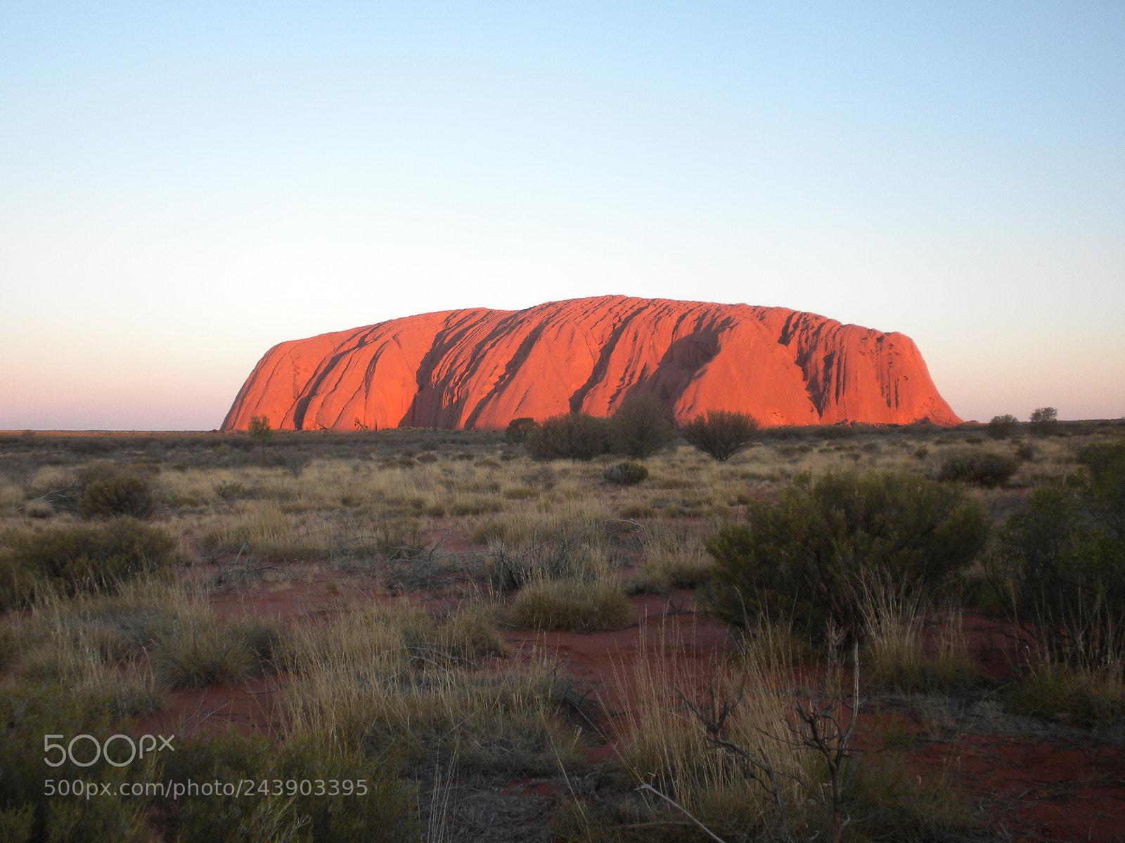 Majestic Uluru at sunset